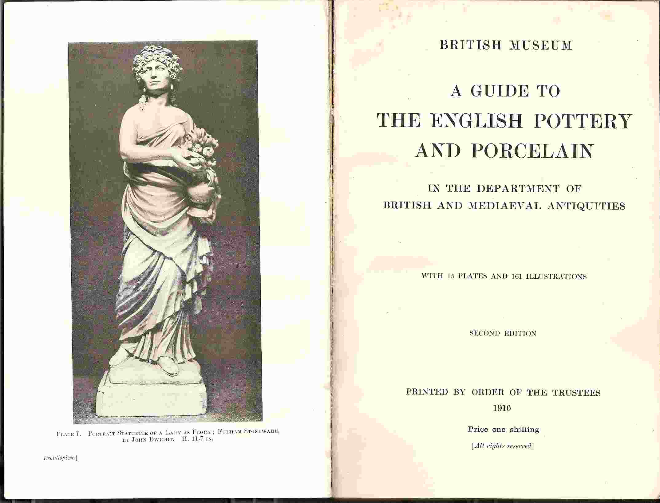 Image for GUIDE TO THE ENGLISH POTTERY & PORCELAIN IN THE DEPARTMENT OF BRITISH & MEDIEAEVAL ANTIQUITIES