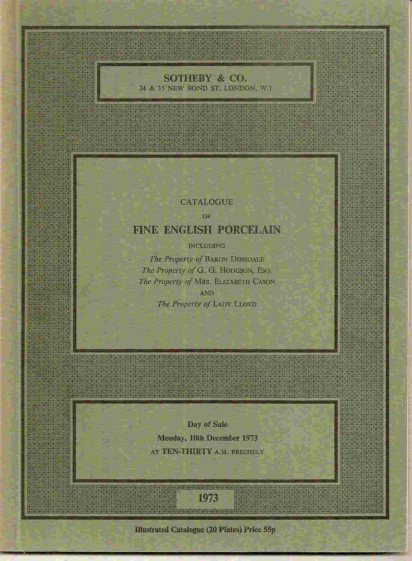 Image for Catalogue of FINE ENGLISH PORCELAIN