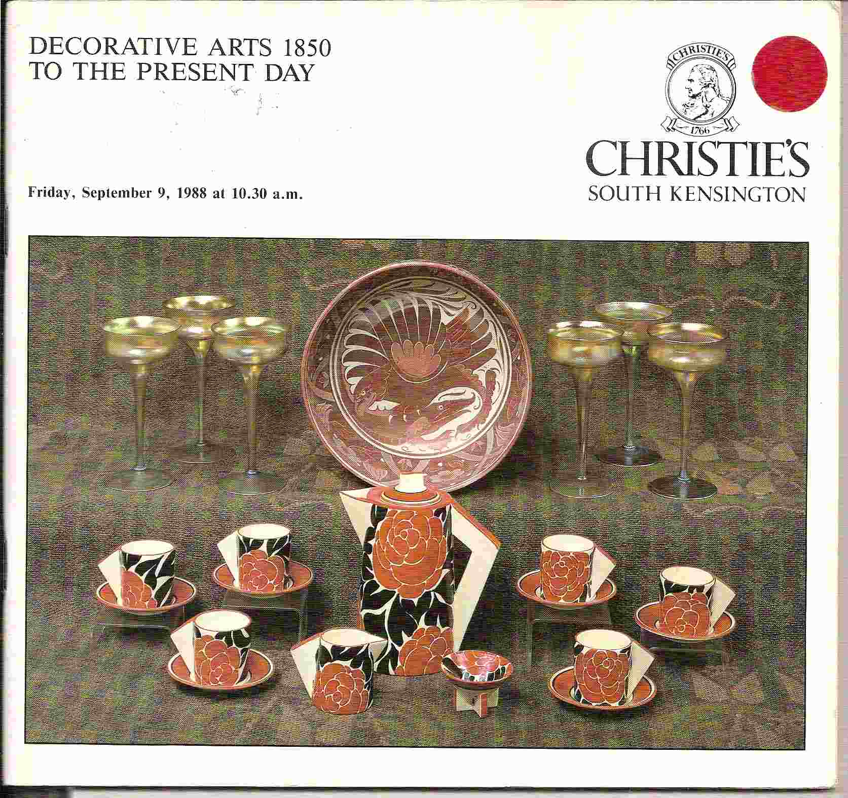 Image for DECORATIVE ARTS 1850 TO THE PRESENT DAY Friday, September 9, 1988