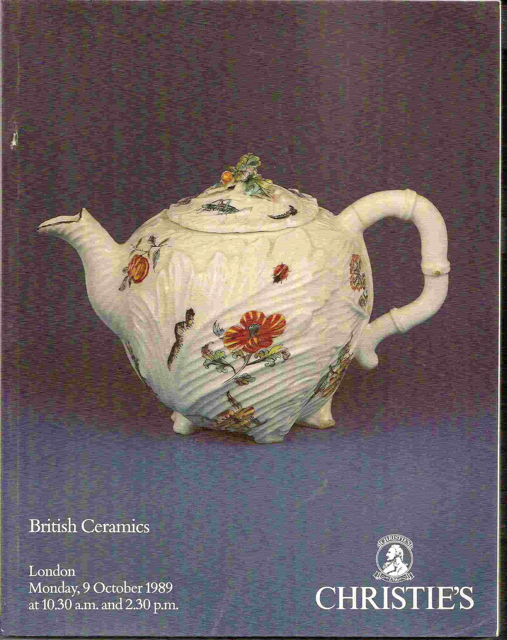 Image for BRITISH CERAMICS OF THE 18th & 19th CENTURIES Monday, 9 October 1989