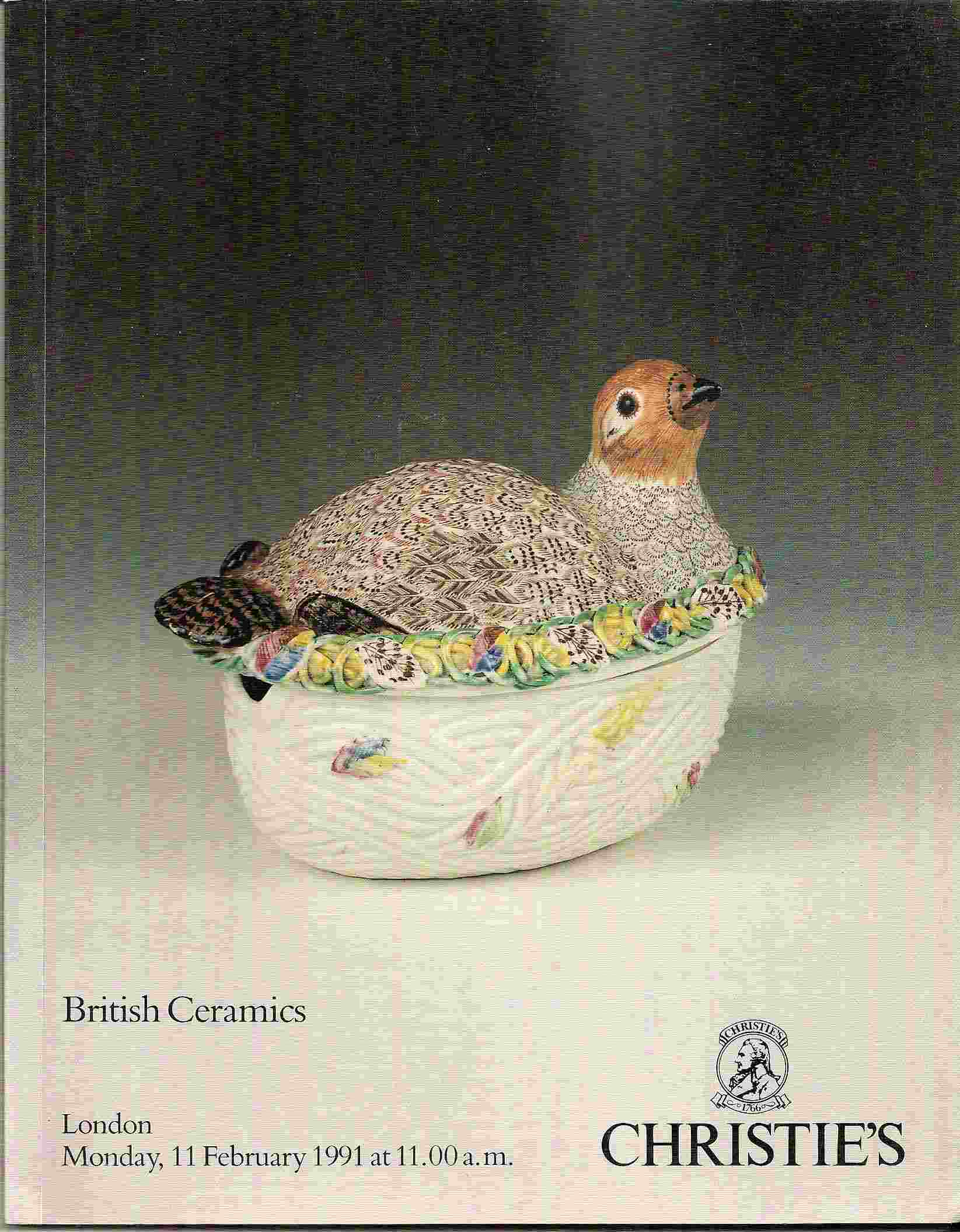 Image for BRITISH CERAMICS OF THE 17th, 18th & 19th CENTURIES Monday, 11 February 1991