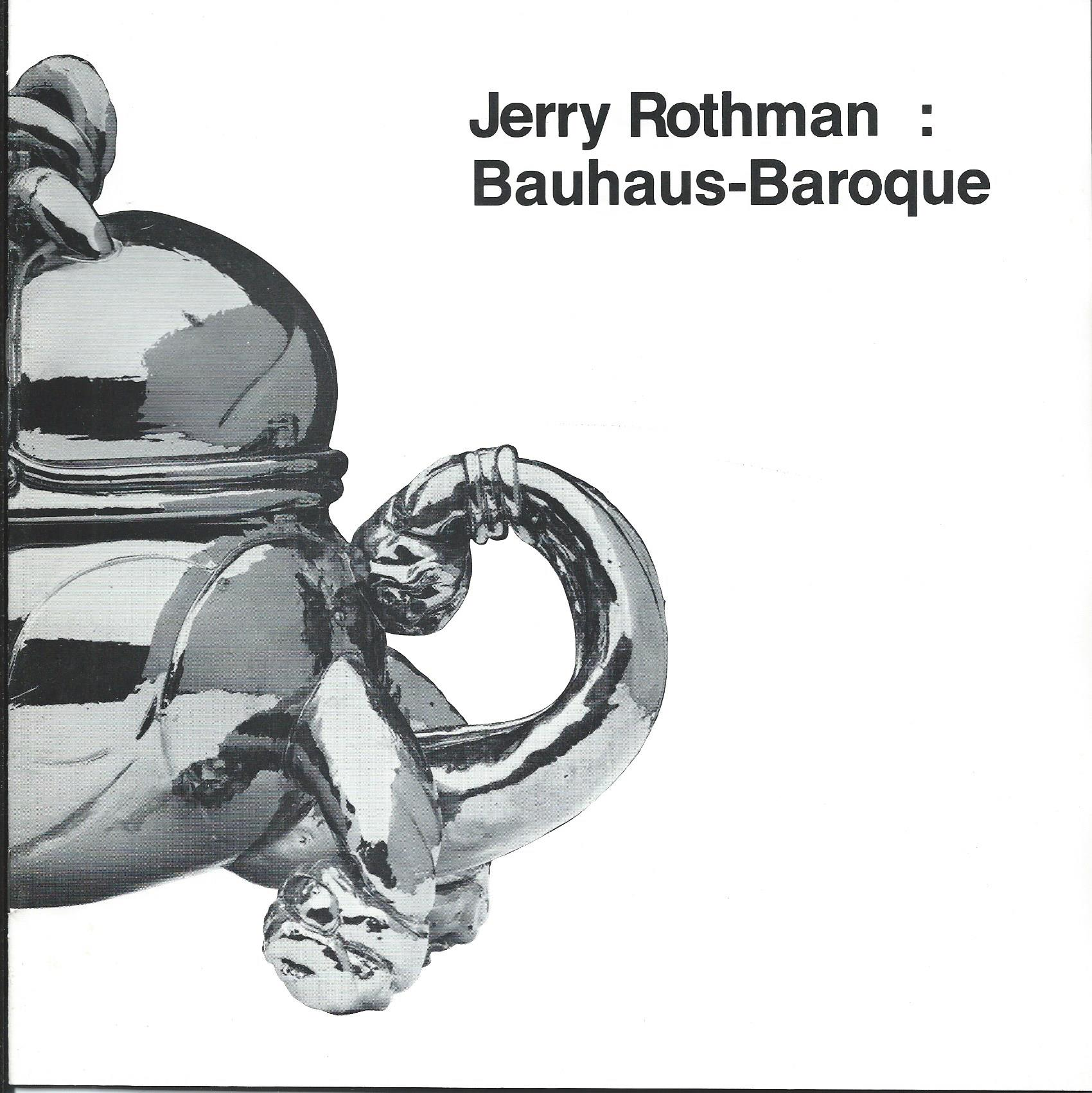 Image for BAUHAUS-BAROQUE; JERRY ROTHMAN: