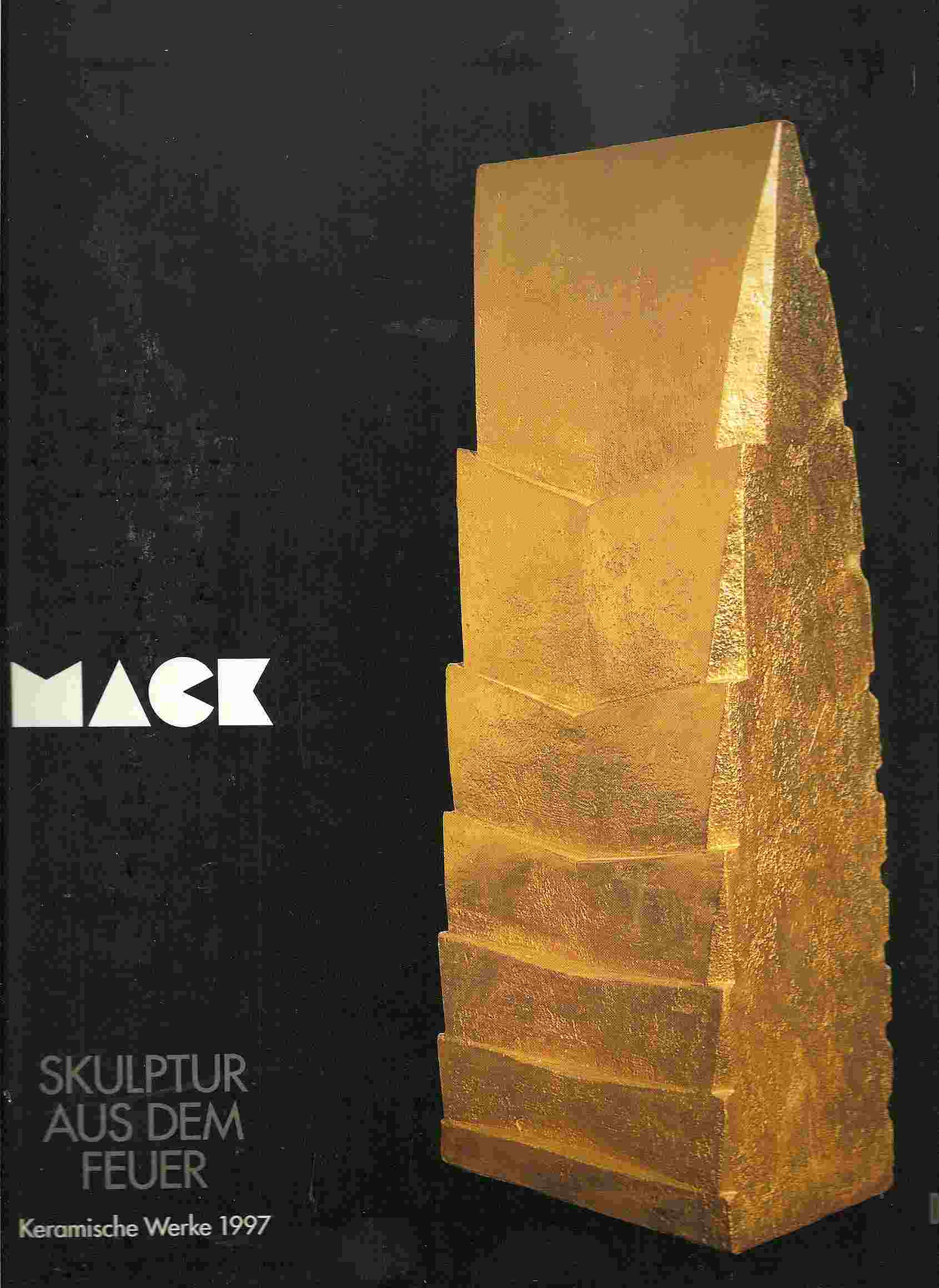 Image for MACK: SKULPTUR AUS DEM FEUER Keramische Werke 1997 (Heinz Mack: Sculpture from Fire: Ceramic Works 1997)