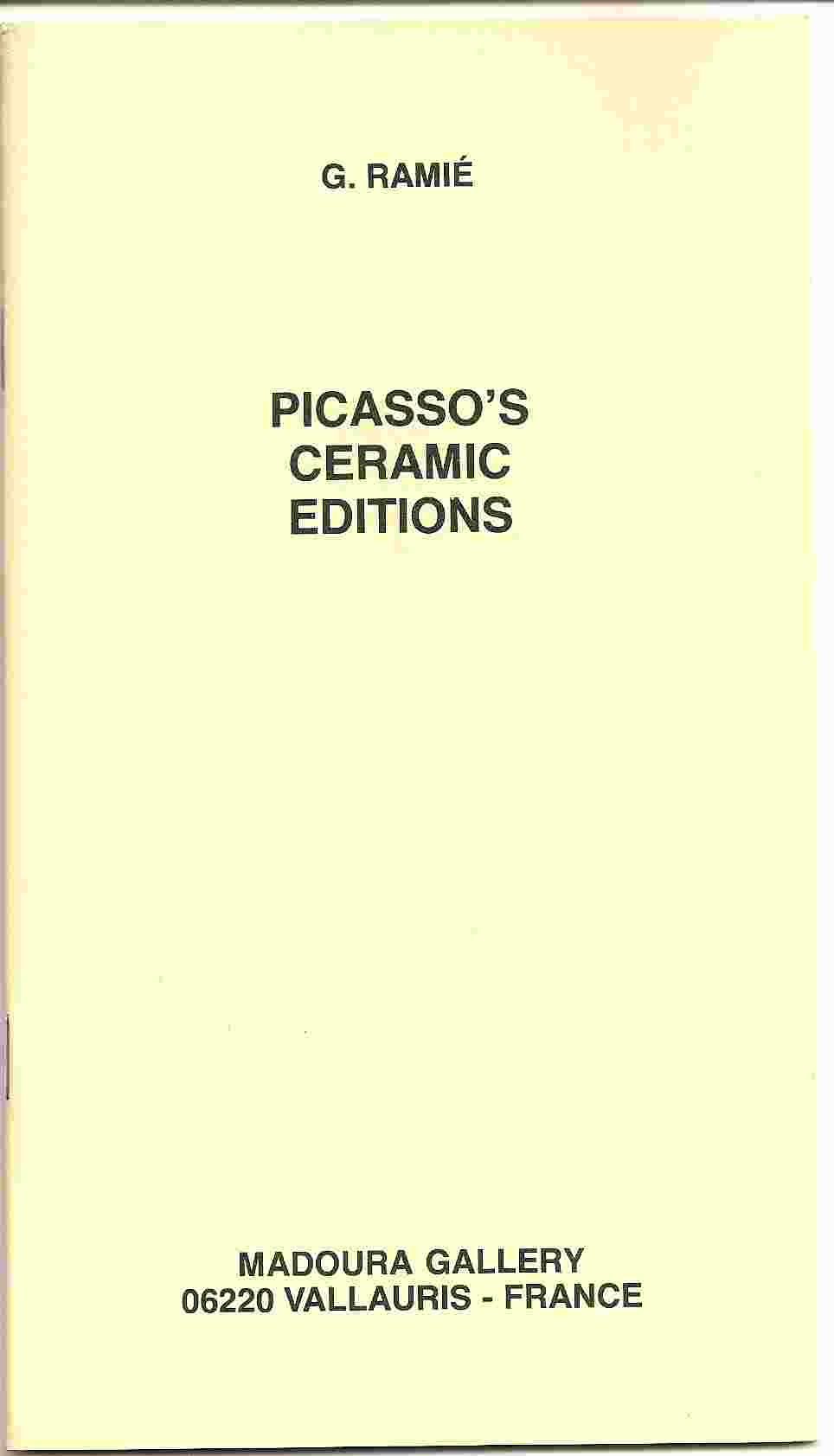 Image for PICASSO'S CERAMIC EDITIONS