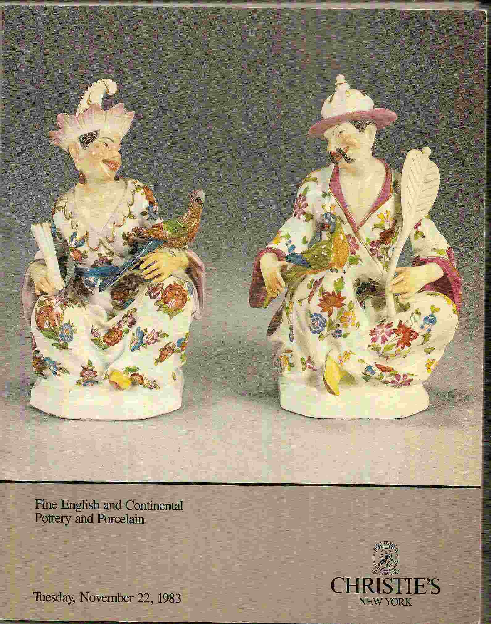 Image for FINE ENGLISH & CONTINENTAL POTTERY & PORCELAIN & WEDGWOOD Tuesday, November 22, 1983