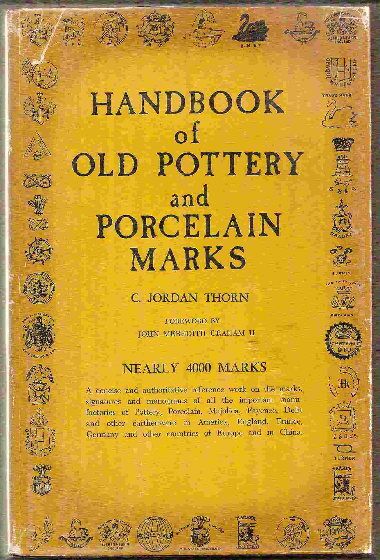 Image for HANDBOOK OF OLD POTTERY & PORCELAIN MARKS Nearly 4,000 Marks