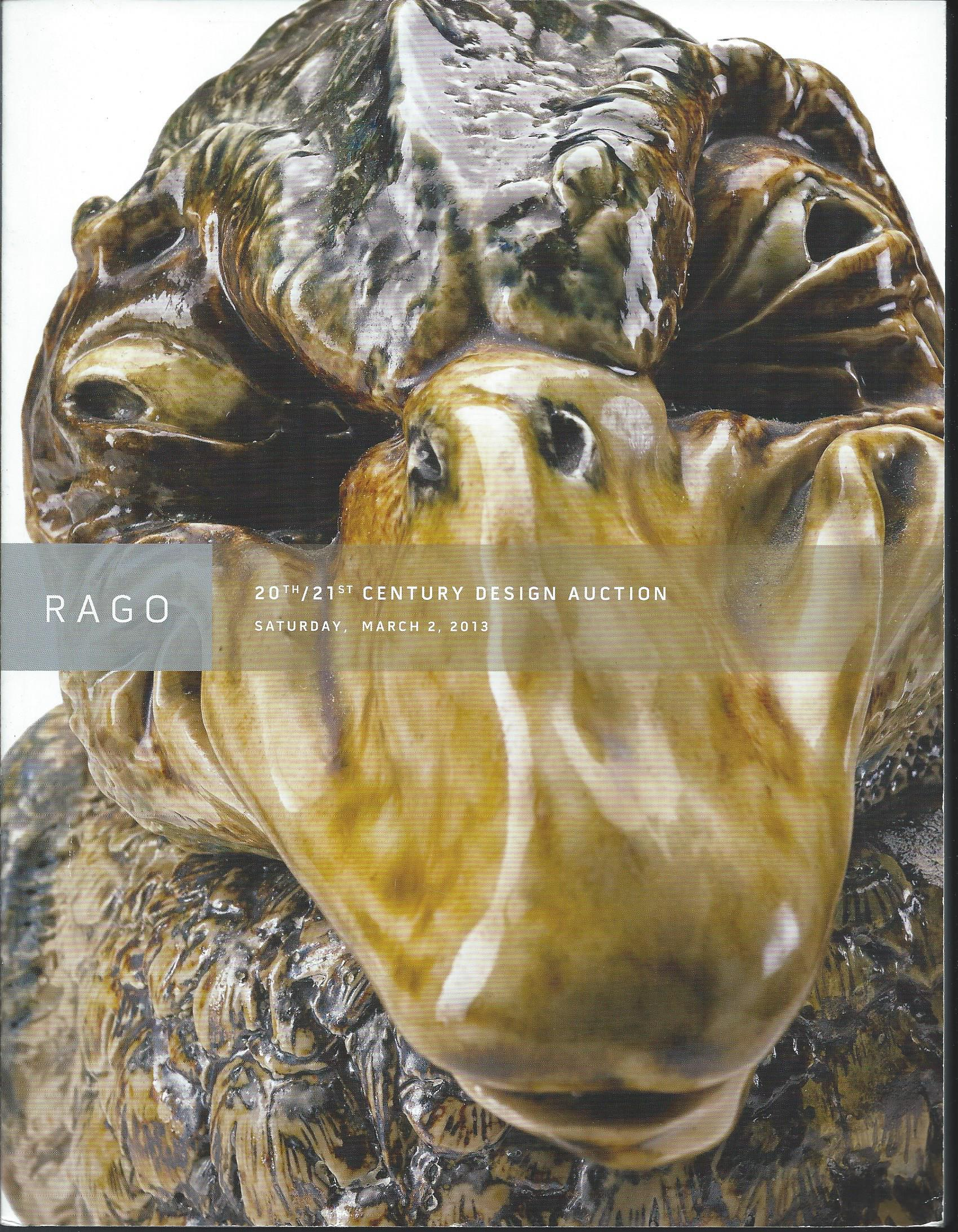 Image for Saturday, March 2, 2013; RAGO - 20TH & 21ST CENTUIRY DESIGN AUCTION