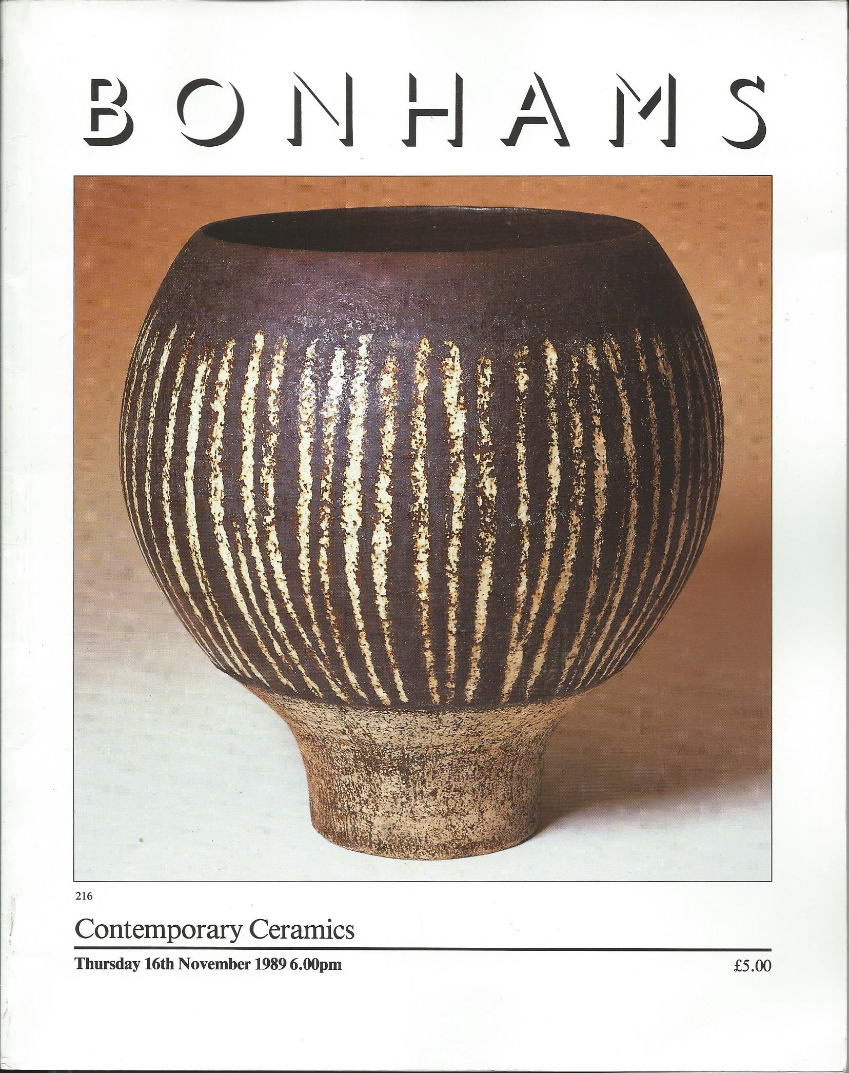 Image for Thursday 16th November 1989; CONTEMPORARY CERAMICS