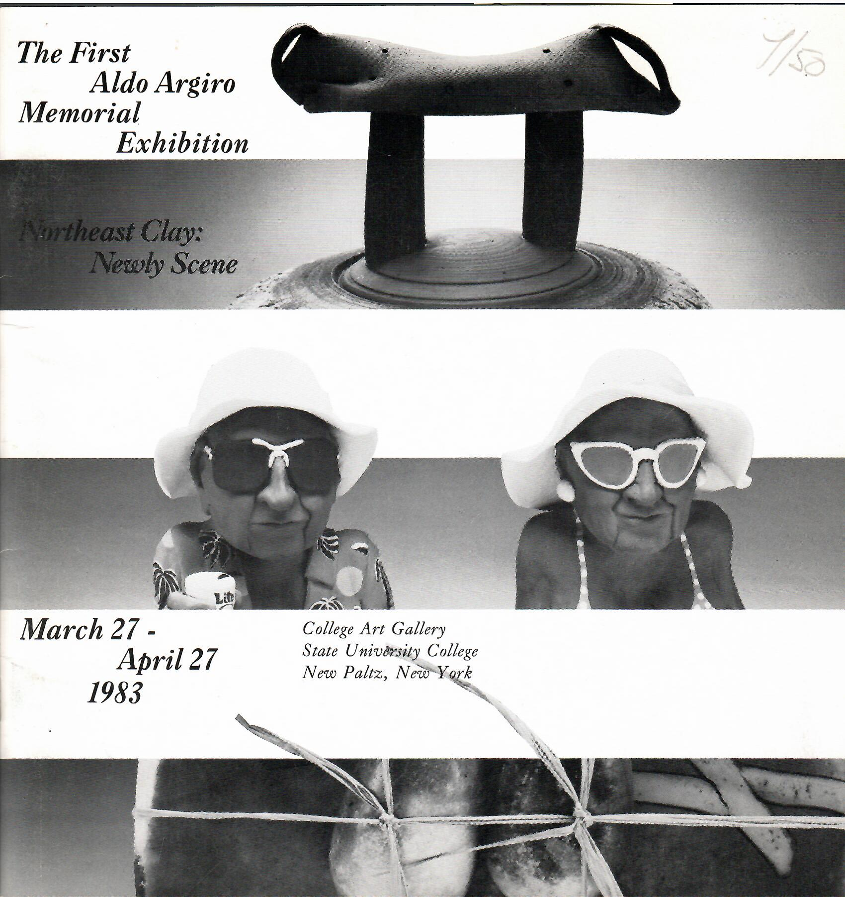Image for The First Aldo Argiro Memorial Exhibition, March 27 - April 27, 1983; NORTHEAST CLAY: NEWLY SCENE