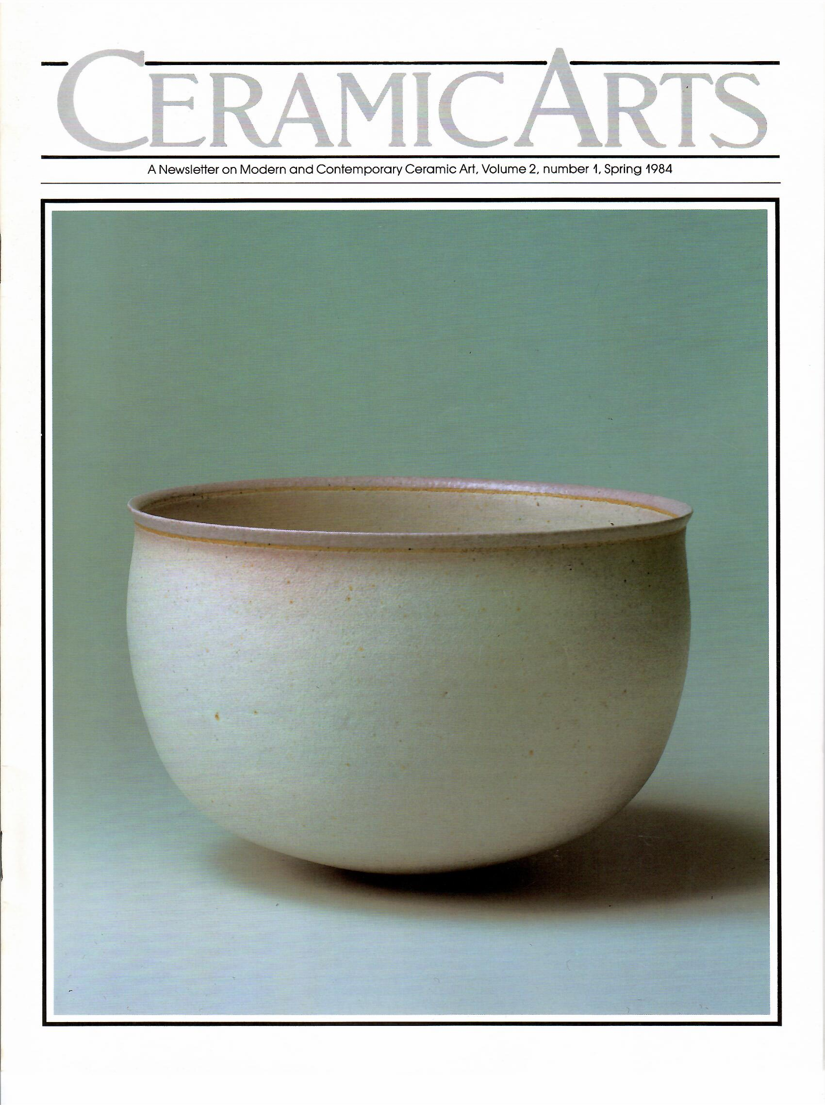 Image for Volume 2, Number 1, Spring 1984; CERAMIC ARTS
